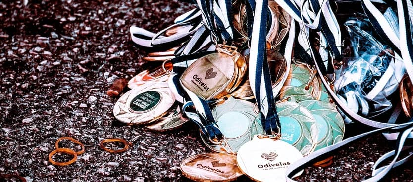 pile of medals